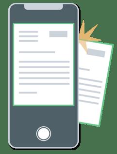 Mobile application capture (loans, refunds, returns)